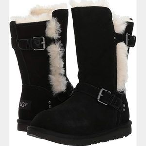 UGG Magda suede black fully lined boots - size 5